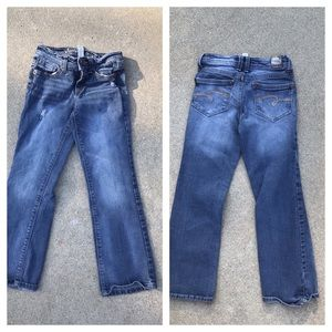 🎉CLEARANCE🎉 Girls super stressed JUSTICE jeans